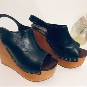Jeffery Campbell wooden wedges